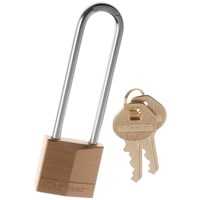 Master Lock  Brass Long Shackle Padlock - 30mm