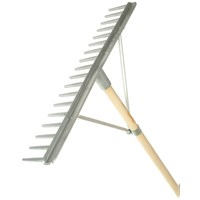 Faithfull  Aluminium Landscape Rake with Handle - 1.8m