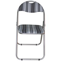 Euroactive  Folding Chair - Black Striped