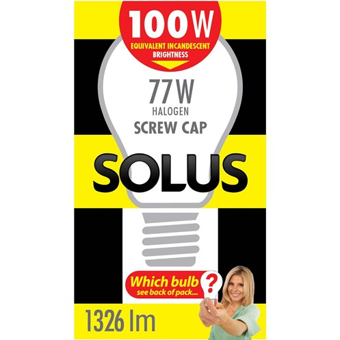 Solus  ES A55 Halogen Energy Saver Light Blub - 77W
