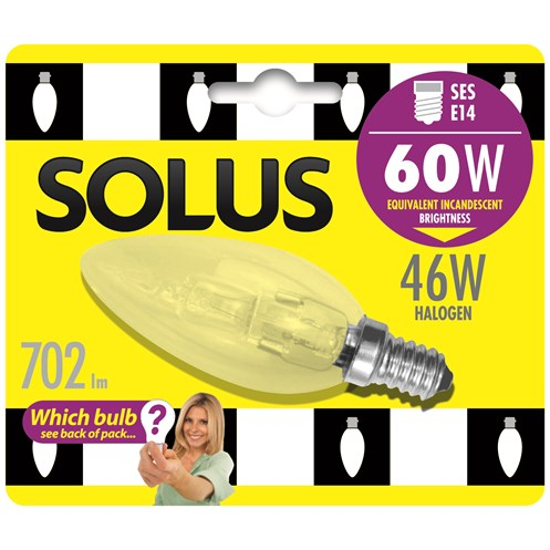 Solus  SES Candle Halogen Energy Saver Light Blub - 46W