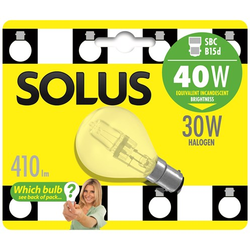 Solus  SBC Round Halogen Energy Saver Light Blub - 30W