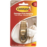 3M Command Metal Hook - Antique Bronze