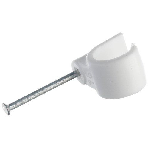 Allgrip  Nail In Pipe Clip - White