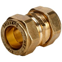 Mez Brass Compression 310 Straight Coupler Pipe Fitting