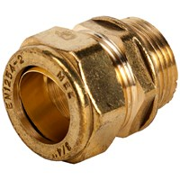 Mez Brass Compression 311 Male Straight Coupler Pipe Fitting