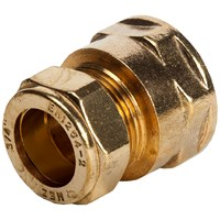 Mez Brass Compression 312 Female Straight Coupler Pipe Fitting