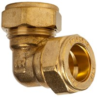 Mez Brass Compression 315 Elbow Pipe Fitting