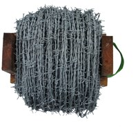 BAT Metalwork  Galvanised Barbed Wire - 200m Roll